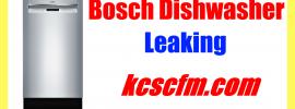 Bosch Dishwasher Leaking