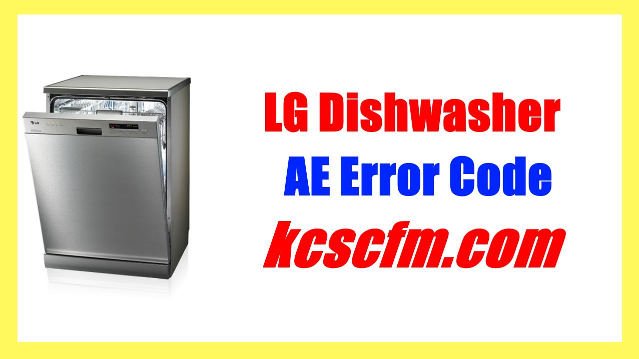 LG Dishwasher AE Error Code