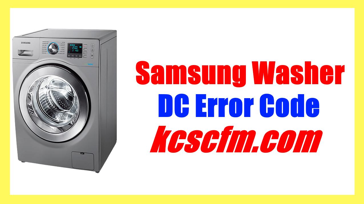 Samsung Washer DC Error Code