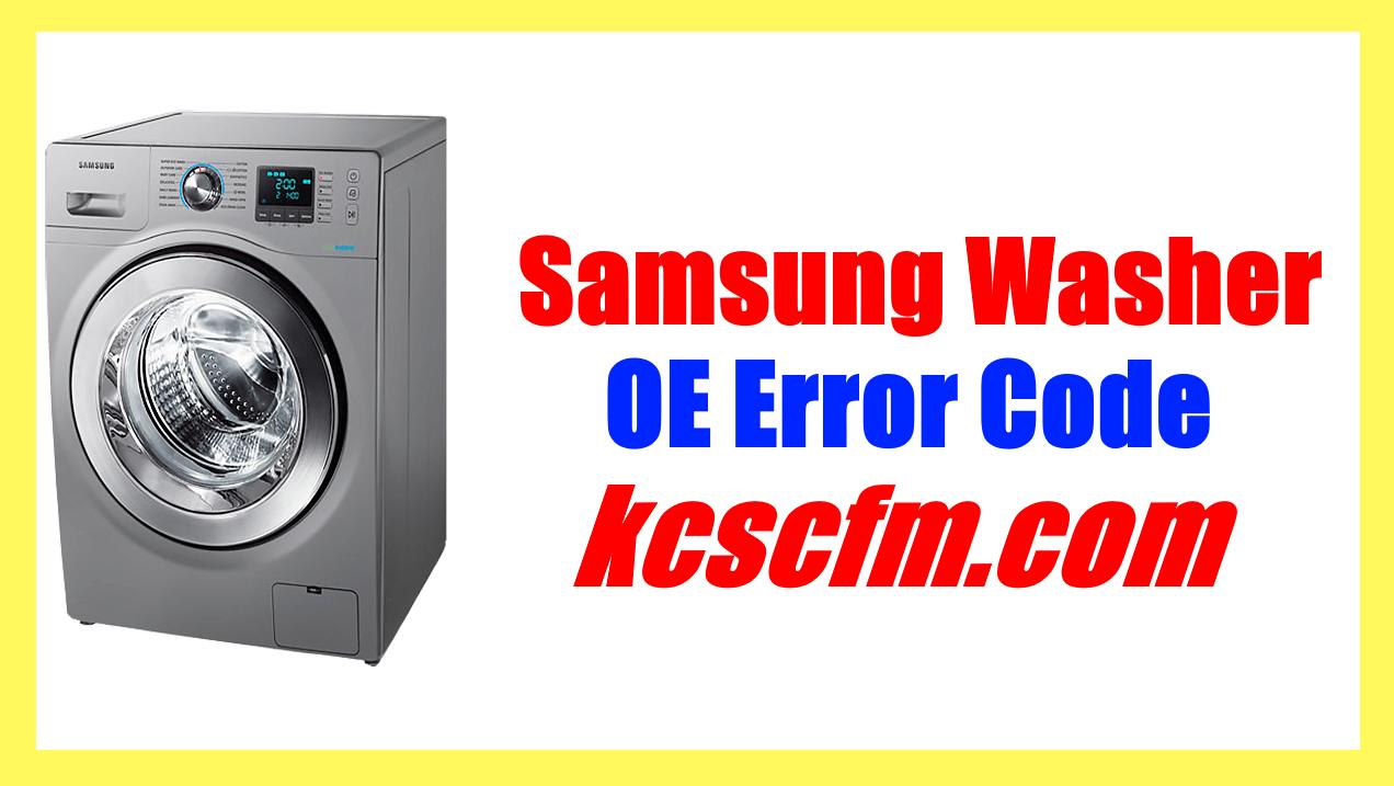 Samsung Washer OE Error Code