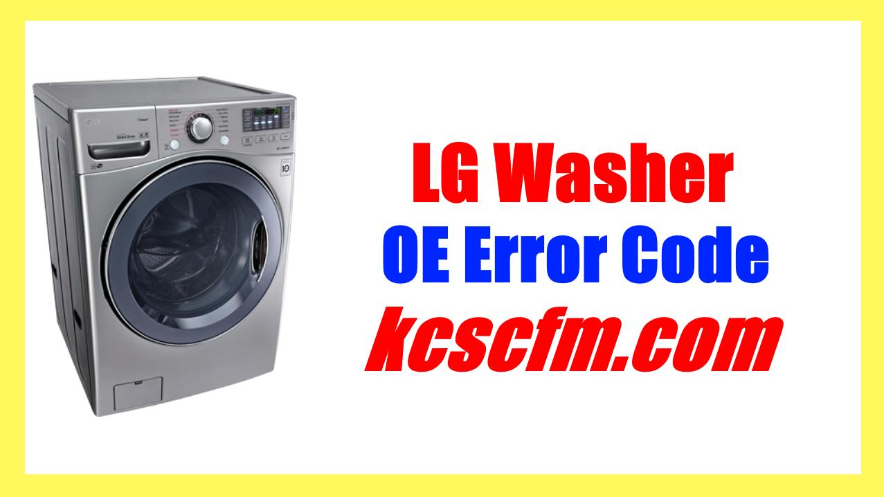 LG Washer OE Error Code