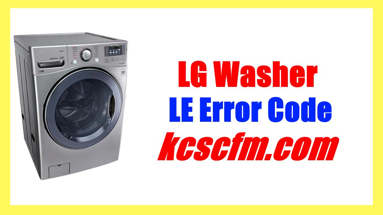 LG Washer LE Error Code